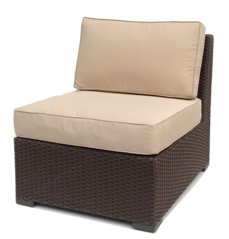 Outdoor Wicker Armless Chair