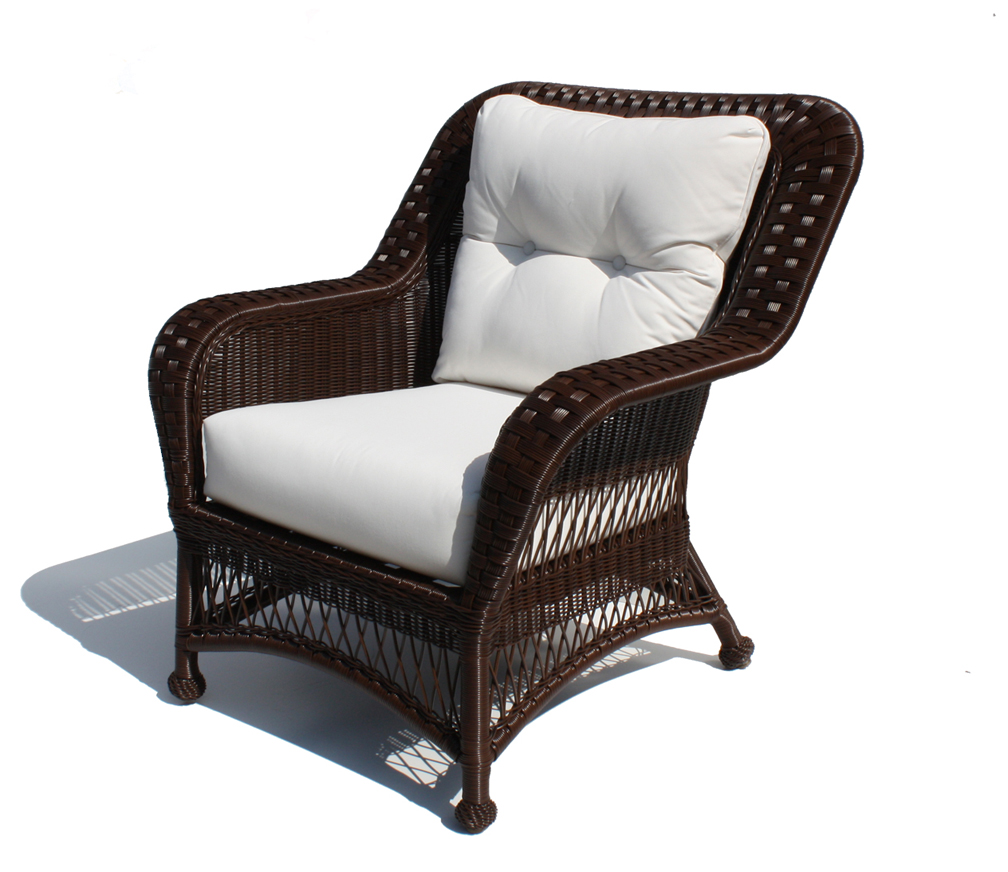 Outdoor Wicker Chair - Princeton Shown in Brown | Wicker ...