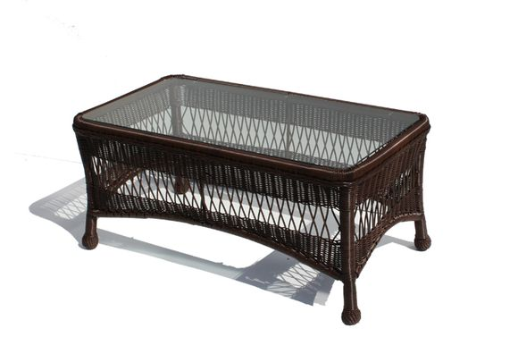 Outdoor Wicker Coffee Table - Princeton Shown in Chocolate Brown