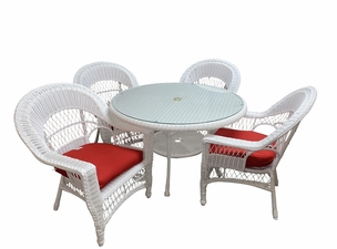 Outdoor Wicker Dining Set of 5: Cape Cod Style- Available in September