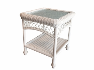 Outdoor Wicker End Table | Cape Cod Square