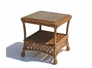 Outdoor Wicker End Table - Montauk Shown in Natural