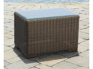 Outdoor Wicker End Table - Santa Barbara