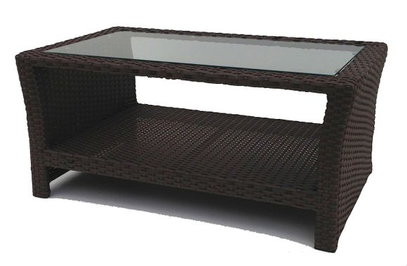 Outdoor Wicker Inset Coffee Table