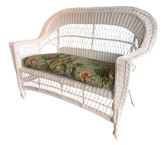 Outdoor Wicker Loveseat: Cape Cod Style