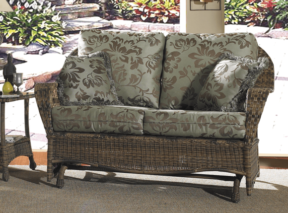 Outdoor Wicker Loveseat Glider