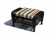 Outdoor Wicker Ottoman