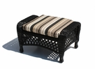 Outdoor Wicker Ottoman - Montauk Shown in Black