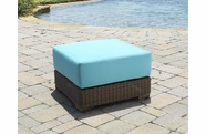 Outdoor Wicker Ottoman - Santa Barbara