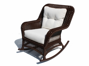 Outdoor Wicker Rocker - Princeton Shown in Chocolate Brown