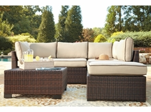Outdoor Wicker Sectional and Table  Loughran
