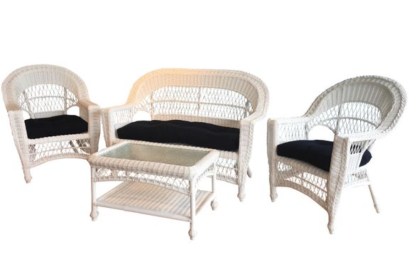 Outdoor Wicker Furniture Set Of 4   Cape Cod