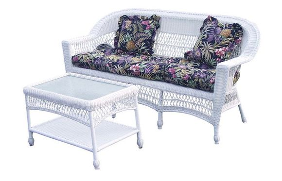 Outdoor Wicker Sofa: Cape Cod