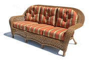 Outdoor Wicker Sofa - Montauk Shown in Natural