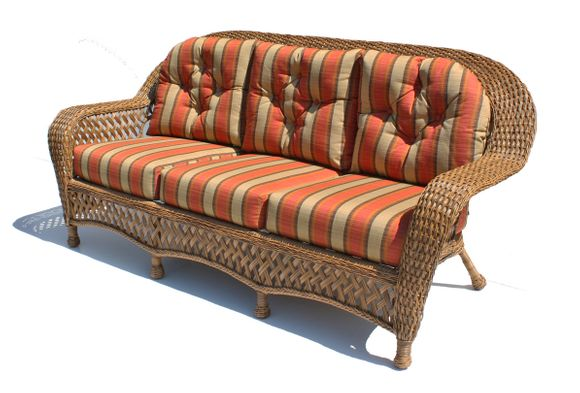 Outdoor Wicker Sofa Montauk Shown In Natural 16 Jpg
