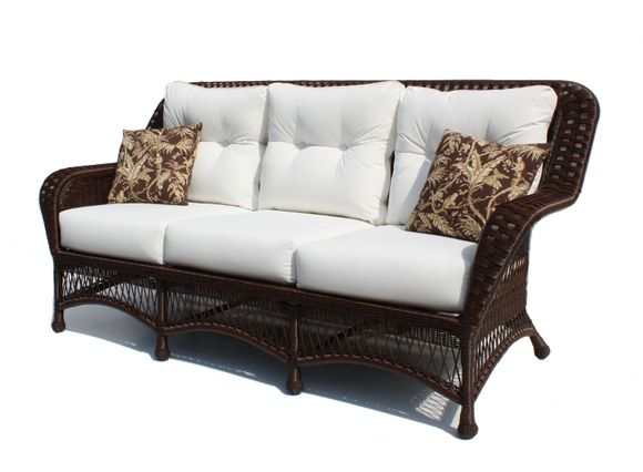 Outdoor Wicker Sofa - Princeton - Chocolate Brown