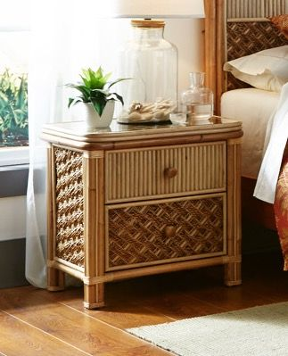Palm Bay Rattan Nightstand-AVAILABLE IN DECEMBER 2021