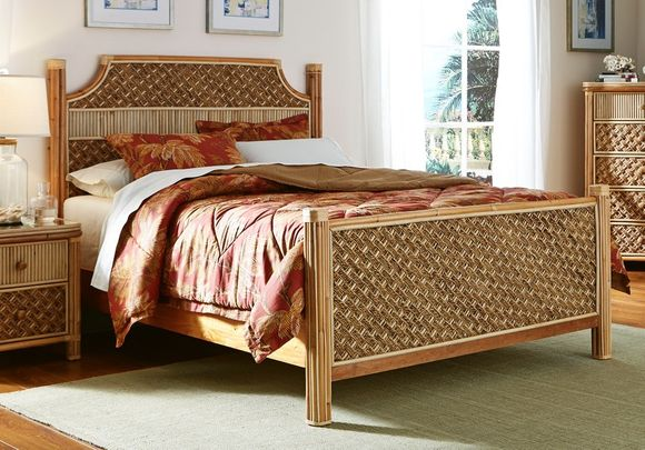 Palm Bay Rattan Queen Bed