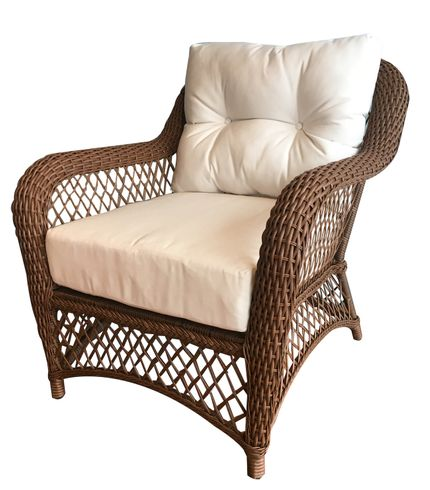 Patio Wicker Chair with Sunbrella- Charleston Collection