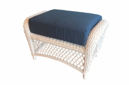 Patio Wicker Ottoman with Sunbrella- Seville Collection