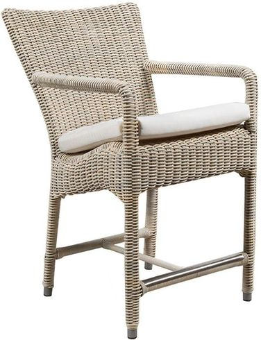 Provence Outdoor Wicker Counter Stool