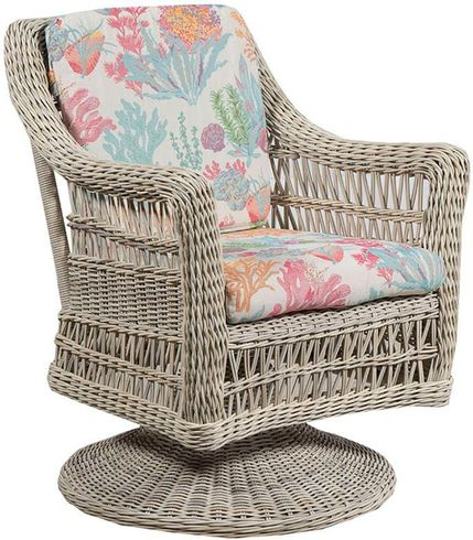 Provence Outdoor Wicker Swivel Dining Chair