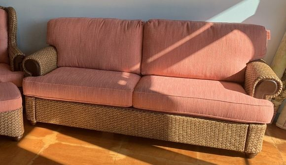 Quick Ship Wicker Sofa