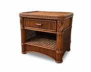 Rattan 1 Drawer Nightstand - Barbados