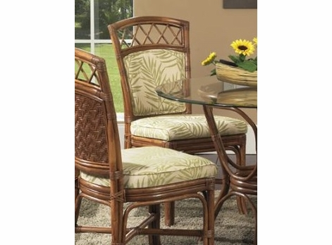 Rattan desk chair-with Upholstered back