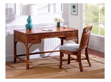 Rattan Desk- Shown In sandalwood -chair sold seperately