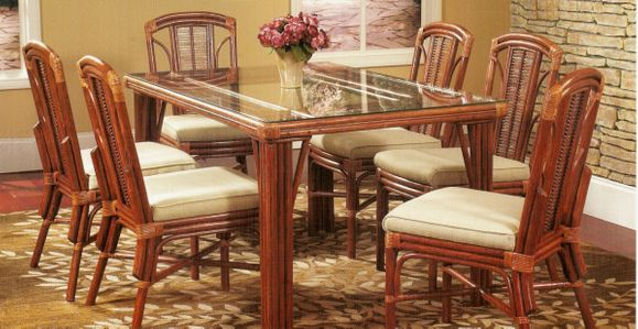 Rattan Dining Set - Chesapeake Bay