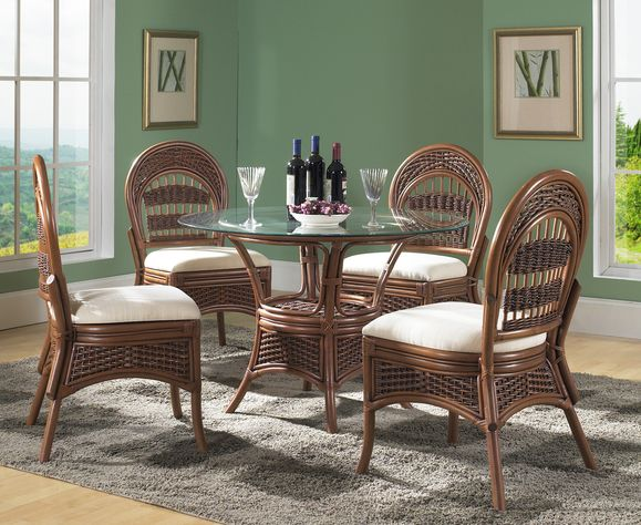 Rattan Dining Set: Tigre Bay Dining Set of 5