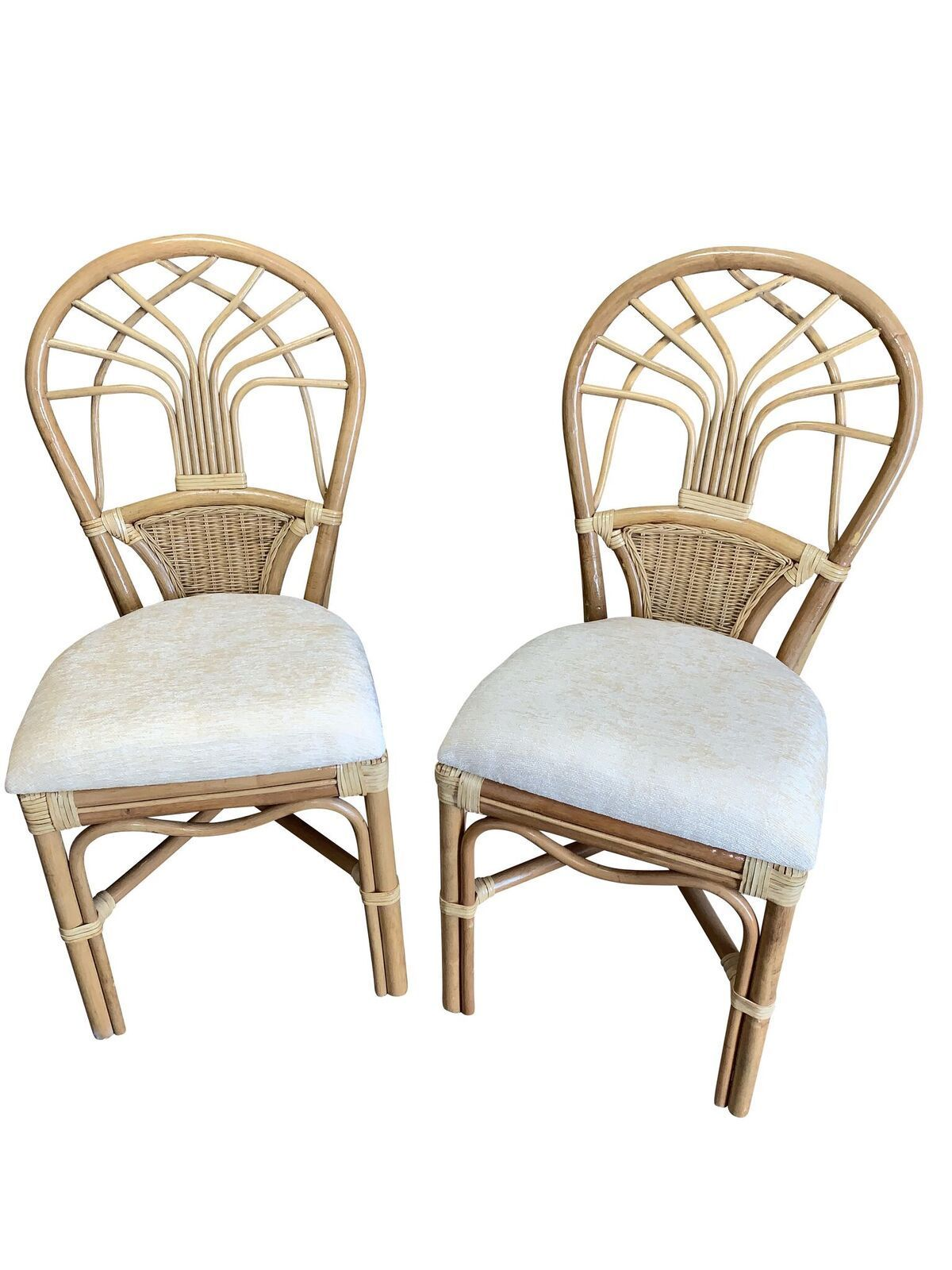 Rattan Dining Side Chairs Jupiter Set Of 2