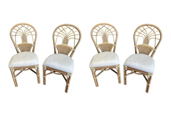 Rattan Dining Side Chairs - Jupiter Set of 4