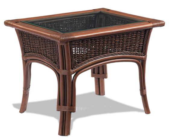Rattan End Table - Tigre Bay