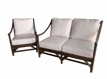 Rattan Loveseat and Chair-Quickship