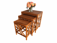 Rattan Stack Tables: Set of 3