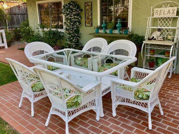 Resin Wicker Dining Set: Cape Cod Set of 7- Available in November
