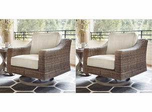 Roslyn Outdoor Swivel Chair Set of 2