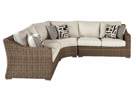 Roslyn Outdoor Wicker 3 Piece Sectional