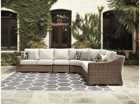 Roslyn Outdoor Wicker Sectional Large