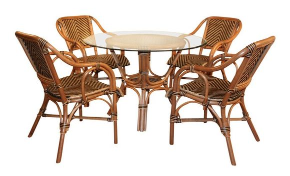 Image of: Safari Style Furniture Intended Safari Rattan Dining Furniture Furniture Style