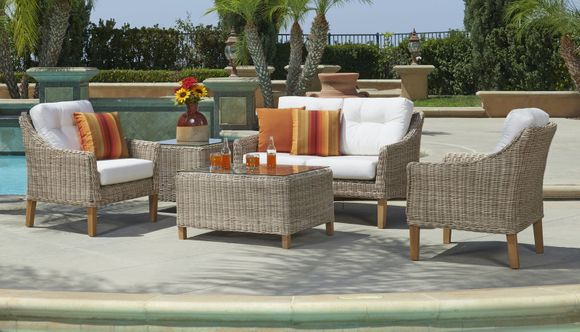 San Jose Outdoor Wicker Set of 5