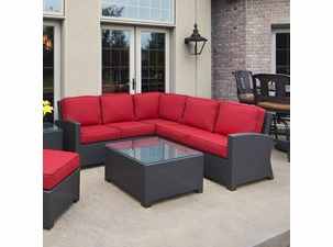 San Remo Outdoor Wicker 3 Piece Sectional
