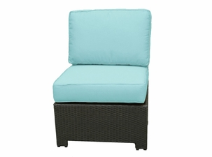 San Remo Outdoor Wicker Armless Sectional Chair