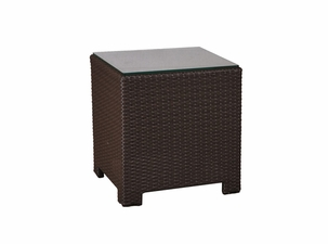 San Remo Outdoor Wicker Square End Table