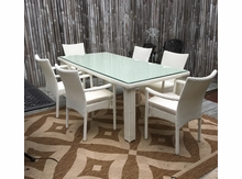Santa Barbara Outdoor Wicker Dining Table ONLY-sold