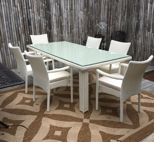 Santa Barbara Outdoor Wicker Dining Set