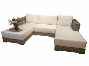 Santa Barbara Outdoor Wicker sectional Set of 3