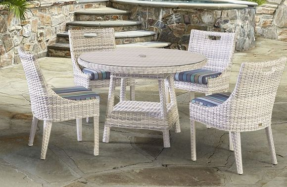 Santa Clara Outdoor Wicker Dining Set of 5